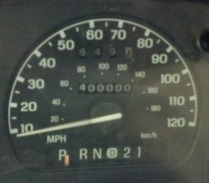 Odometer hits the 400,000 mile mark