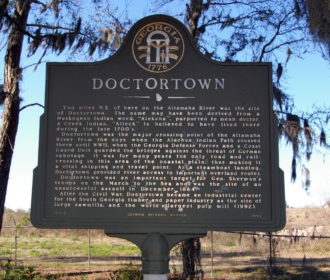 Doctortown Historical Marker (Southeast Georgia)