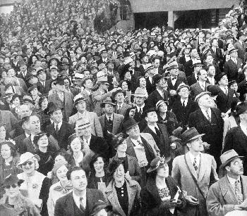 Crowd of Hollywood Film Extras in the 1930's