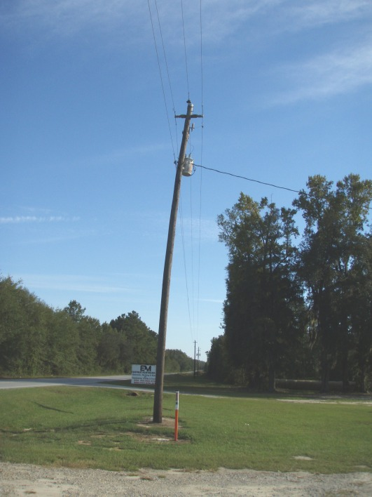 Bent Power Pole