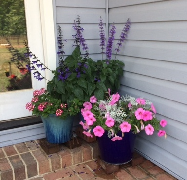 Planters on porch 3